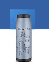 1шт 500мл нержавеющей стали вакуумные чашки портативная бутылка случайная конструкция