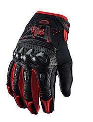 Mottled Carbon Fiber Shell Gloves Motorcycle Gloves Abrasion Resistant Racing Gloves Non-Slip Off-Road Riding Gloves