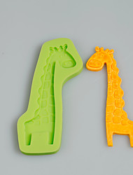 Cartoon Giraffe Silicone Polymer Clay Mold Cake Decoration Sugarcraft Tools Fimo Fondant Chocolate Candy Soap Making