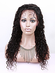 EVAWIGS Indian Human Virgin Hair Lace Front Wig Natural Color Water Wave Lace Wigs