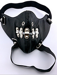 Mask Inspired by Tokyo Ghoul Ken Kaneki Anime Cosplay Accessories Mask Black Leather Male