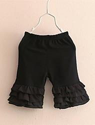 Mädchen Shorts-Lässig/Alltäglich einfarbig Baumwolle Sommer / Herbst Schwarz / Weiß
