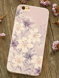 Para Antigolpes Funda Cubierta Trasera Funda Flor Suave TPU Apple iPhone 6s Plus/6 Plus / iPhone 6s/6 / iPhone SE/5s/5