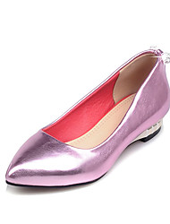 Women's Shoes PU Summer/Pointed Toe Heels Outdoor/Office & Career/Casual Wedge Heel Sparkling GlitterPurple/White/