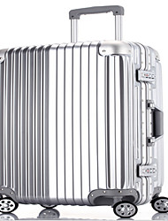 Unisex-Outdoor-PVC-Luggage-Gold / Silver
