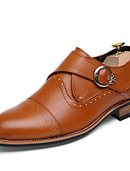 Men's Shoes Wedding / Office & Career / Party & Evening / Casual Customized Materials Oxfords Black/Yellow
