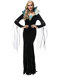 Cosplay Costumes Vampire Movie Cosplay Black Solid Dress Halloween / Christmas / New Year Female Terylene