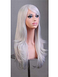 Cosplay Wigs Full Synthetic Wigs 70 cm Popular Gray Wig Cheap Best Quality
