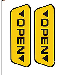 Security Door Open Warning Stickers OPEN Reflective Stickers Car Stickers Car Decoration Supplies Tips