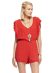 Coeur Soul® Femme Taille Normale Shorts Rouge Pour tous les jours Pantalon-11AA14160