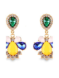 Fashion Temperament Multicolored Gems Bohemia Crystal Earrings