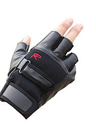Half Gloves Male Is Prevented Bask In Thin Slippery Breathable Leather Fitness Gloves Motorcycle Bicycle Tactical Gloves