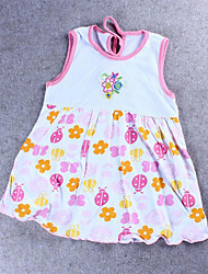 Wholesale Clothing summer cotton print dress baby skirt baby dress Large flowers optional