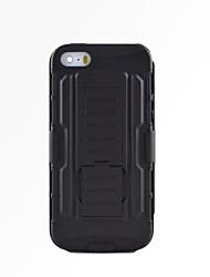 iphone 7 mais cair armadura resistência jaqueta protetora com suporte e clipe para iphone 5 / 5s