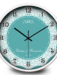 Creative Personality Charm Green Lace Bedroom Living Room Wall Metal Wall Clock