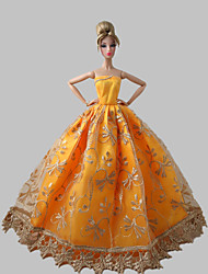Princesse Robes Pour Poupée Barbie Orange Robes
