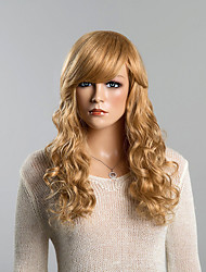 Top Long Wavy Honey Blonde Human Hair Wigs