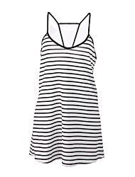 Women's Vintage Sexy Casual Beach Cute Sleeveless Mini Dress , Cotton