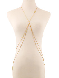 Alloy / Gold Plated Body Chain Party / Daily / Casual 1pc