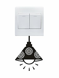 AYA™ DIY Wall Stickers Wall Decals, Chandelier Type PVC Switch Panel Stickers 10*12cm