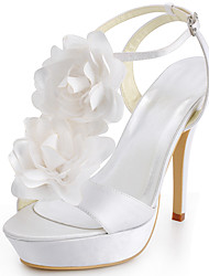 Women's Shoes Silk Stiletto Heel Heels / Peep Toe Heels Wedding / Party & Evening / Dress Blue / Red / White