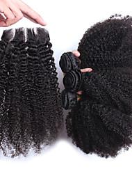 4 Stück Kinky Curly Menschliches Haar Webarten Mongolisches Haar Menschliches Haar Webarten Kinky Curly