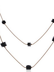 Exquisite Crystal Chain Layered Necklace Jewelry for Lady