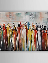 Oil Painting Abstract People Hand Painted Canvas with Stretched Framed Ready to Hang