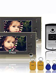 "TMAX® 7"" TFT Wired Doorbell Video Intercom Door Phone System 600TVL HD IR Camera (1Camera to 2Monitors)"