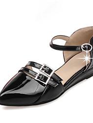 женская обувь лакированная кожа весна / лето / осень мэри / Орсэ&двухсекционный / заостренный носок квартиры офис&карьера