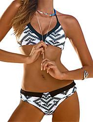 Women's Sexy Low Rise Geometric Print Bikini
