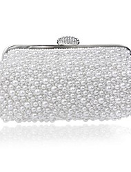 Women-Outdoor-Polyester-Clutch-White / Beige / Gold