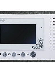 Slim Design 7 Inch Color Metal Rain Shell Hands-Free Intercom Function Digital Screen Video Intercom