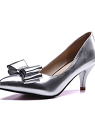 Women's Shoes PU Spring / Heels / Comfort / Round Toe Heels Office & Career / Dress / Casual Stiletto HeelBowknot /