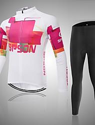 Sport Fahhrad/Radsport Oberteile Damen Langärmelige Atmungsaktiv / tragbar / Komfortabel Polyester / Terylen Klassisch Weiß M / L / XL