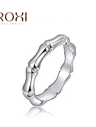 o Ring Silver Bamboo Fashion Band Rings Casual Jewelry for Men 7/8 Size Fit for ALL Seasons
