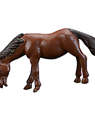 Moss Micro Landscape Decoration Simulation New Horse Pony PVC Toys Dolls Brown