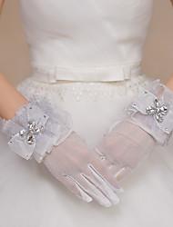 Handgelenk-Länge Fingerspitzen Handschuh Spitze Tüll Polyester Brauthandschuhe Party / Abendhandschuhe Frühling Sommer Herbst Winter
