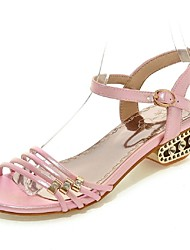 Women's Shoes Chunky Heel Gladiator Sandals Office & Career / Dress / Casual Pink / Purple / White / Gold