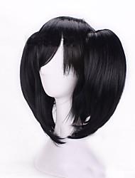 новый аниме париков вектор ZE Nicole парик черный двойной тигр клип хвощ косплей парик 16 дюймов