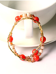 Fashionable Crystal 50cm Round Strand Bracelets
