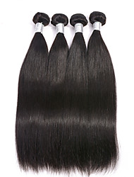 "4Pcs/Lot 8""-30"" Brazilian Virgin Hair Natural Black Unprocessed Straight Human Hair Weaves Style."