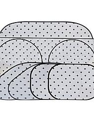 6 PC doble de plata recubierto puntos negros sol de aislamiento anti-UV sombrilla del coche 142 * 67cm