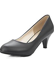 Women's Heels Fall Heels / Comfort PU Office & Career / Casual Kitten Heel Others Black / Pink / Beige