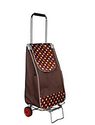 Unisex Nylon Outdoor Suitcase Brown