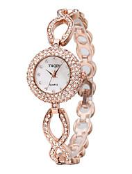YAQIN® Women's Fashion Sparkle Crystal Alloy Quartz Bracelet Watch