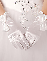 Wrist Length Fingertips Glove Polyester Bridal Gloves / Party/ Evening Gloves