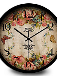 Creative Personality Bedroom Retro Silent Metal Quartz Wall Clock