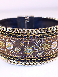 New Fashion Jewelry Tibet Women Bracelet High-grade Leather Bracelets Alloy Magnetic Clasp
