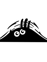 ZIQIAO Funny Car Sticker Peeking Monster Voyeur Car Hoods Trunk Thriller Rear Window Decal